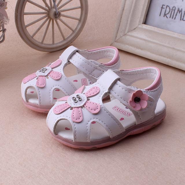 2016 0 до 24 месяцев из светодиодов детские светильники обувь цветами новорожденных ...