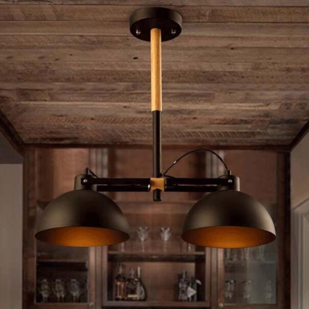 Здесь можно купить  Loft American Industry Classical Vintage Wrought Iron Wood Pendant Lamp Bar Cafe Lamp Living Room Pendant Light  Свет и освещение