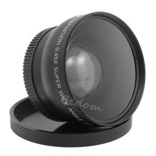 New HD 46MM 0.45x Wide Angle Lens with Macro Lens + Lens Bag for Canon Nikon Sony Pentax Any Camera with 46MM Filter Thread DSLR