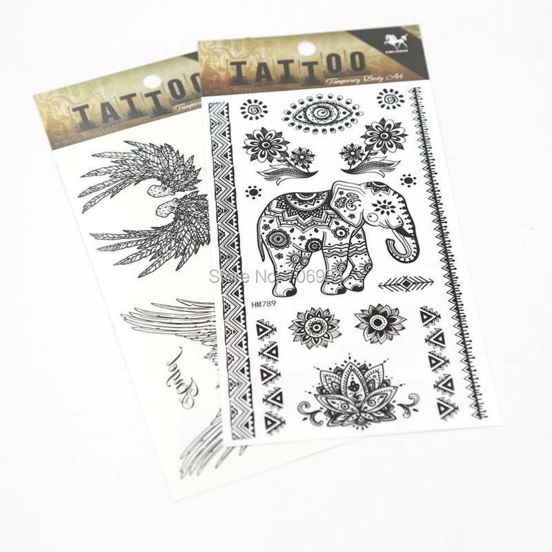Etiqueta do tatuagem temporária 3D Tatto 3 pcs New Body Tattoo Designs à prova d ' água braço tatuagens no peito HM 692 - 819(China (Mainland))