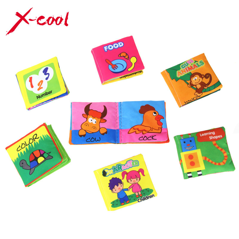 XC1355 Baby's First Book cloth baby book Mini Learning mat Early Learning Educatinoal Toys for kids Free shipping(China (Mainland))
