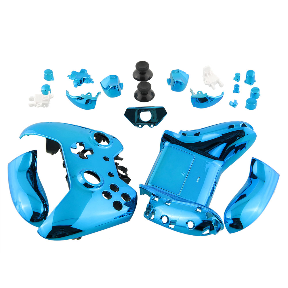 New Wireless Game Controller Shell Housing Chrome Blue Repair Parts For Microsoft Xbox One Replacement<br><br>Aliexpress