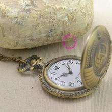 Soviet BOLSHEVIK quartz pocket watch woman lady classic vintage antique fob watches ancient bronze sickle hammer