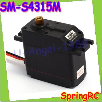 100% Brand New Spring RC All Metal gear Servo SM-S4315M 60g Waterproof 2X Ball bearing 17KG +Free shipping(China (Mainland))