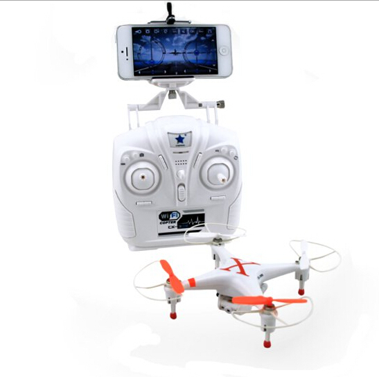 2014 New Free Ship CX-30W Cheerson RC Quadcopter with Camera iPhone Wifi Real Time Transmission Remote Control Helicopter Drone(China (Mainland))