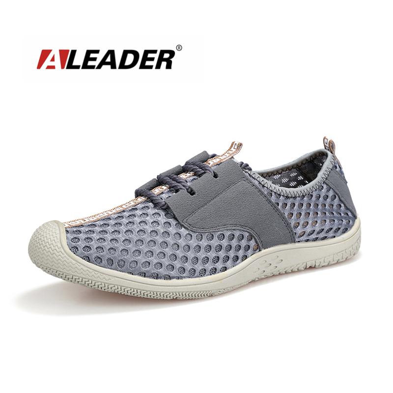 Aleader 2016 Comfortable Mens Flat Shoes Summer Breathable ...