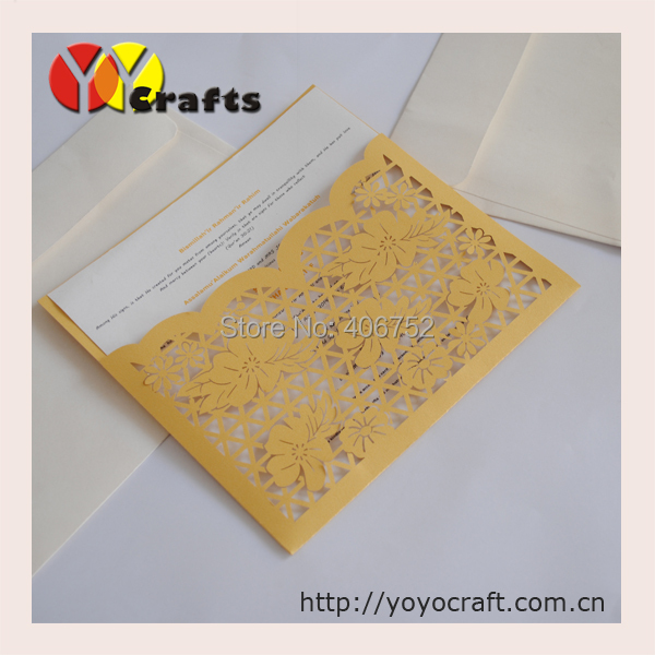 New products wholesale birthday party supply gold color handmade birthday card(China (Mainland))