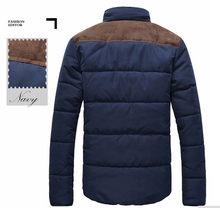 2015 Men Coat Winter Splicing Cotton Padded Hotsale Jacket Winter Plus Size Parka High Quality MWM169