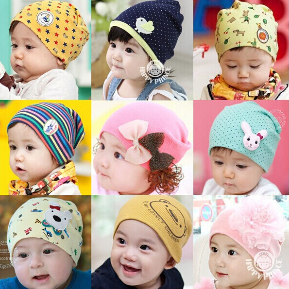 kids infant boy girl baby hat caps toddler beanies cotton bonnet lovely animal newborn photography props elastic hat bebes cap(China (Mainland))