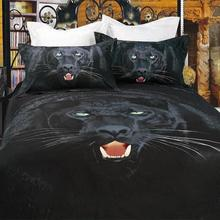 4pcs per set  Black Panther on 3D Bedding sets of Luxury Home Textile GD-107-4(China (Mainland))