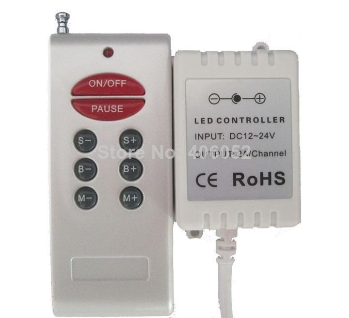4set/lot Wireless Remote 8 Keys DC 12v rf rgb controller for 5050/3528 RGB LED Strip(China (Mainland))