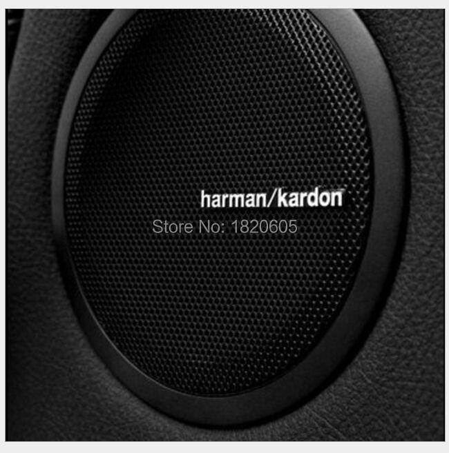 1000pcs/lot high quality For harman/kardon Hi-Fi Speaker audio Speaker 3D Aluminum Car Badge Emblem stereo sticker 4.3x0.5cm(China (Mainland))