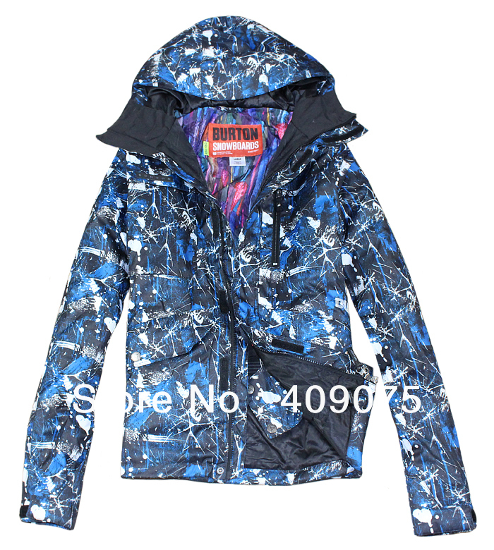 Hot Sale+New Arrive+Blue+White bright stars Branded Man Snowboard/sking jacket+windproof+waterproof +S-XL(China (Mainland))