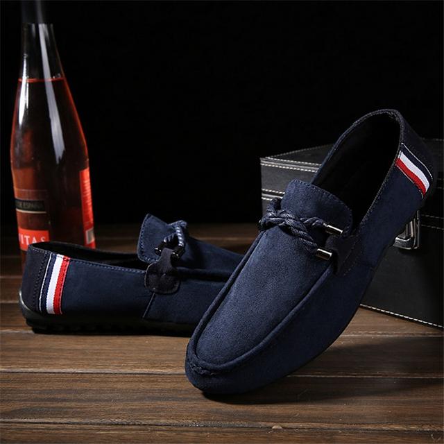Новый 2016 энглунд стиль горох обувь замши мужской обуви свободного покроя мужской ...