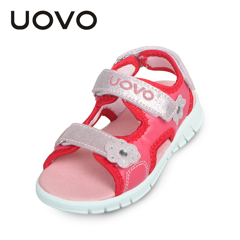 UOVO High Quality Baby Toddler Sandals Light Weight Sole Little Boys Girls Sandals Kids Sandals Two Straps Children Summer Shoes(China (Mainland))