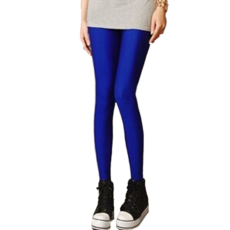 New Candy Color Women High Waist Leggings Winter Stretched Legging Thin Elastic Fluorescence Women's Leggings 15 Colors(China (Mainland))