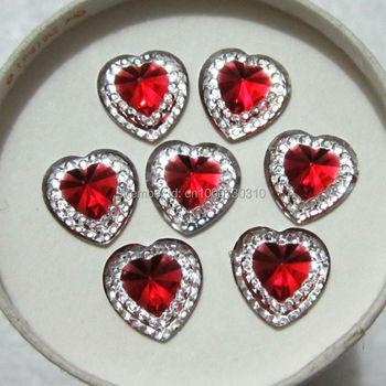 30pcs 12mm Resin Heart flatback Scrapbooking for phone/Wedding decoration craft C302