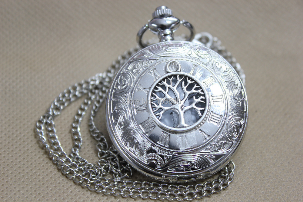 Tree life Pocket watch-vintage Victorian Retro Steampunk Roman Mechanical Watch - The lowest price shop store