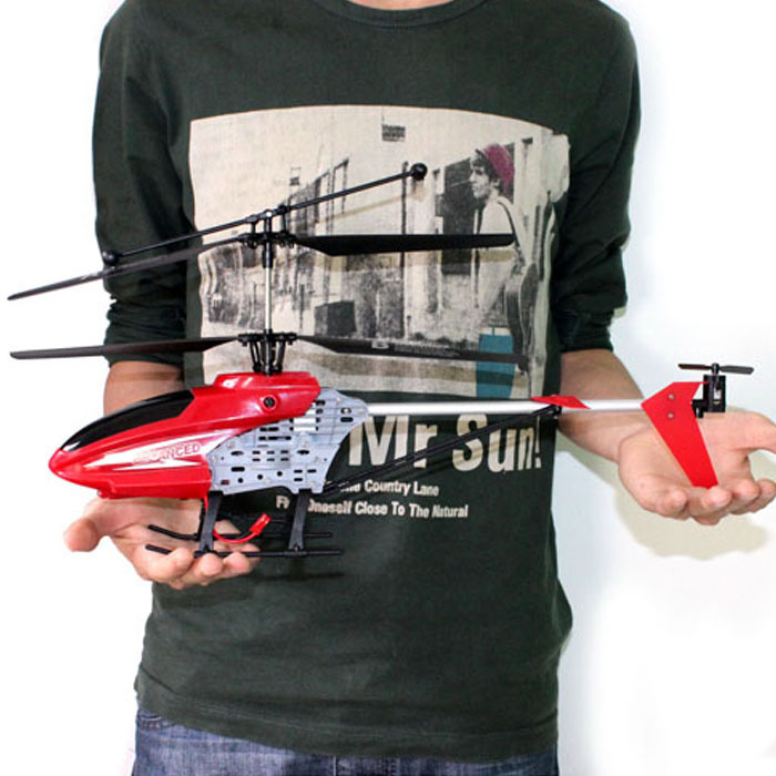 New 2.4GHz 4CH R/C Remote Control RC 45CM LED Gyro Big Helicopter Gifts Tonsee(China (Mainland))
