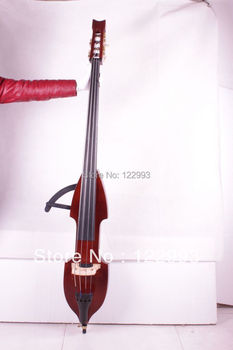 Free shipping 3/4 new Electric Upright Double Bass Finish silent SOlid wood Powerful Sound