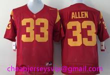 Cheap Men's USC Trojans Reggie Bush Robert Woods marcus allen Ronnie Lott O.J Simpson Matt Barkley Clay Matthews Embroidery()