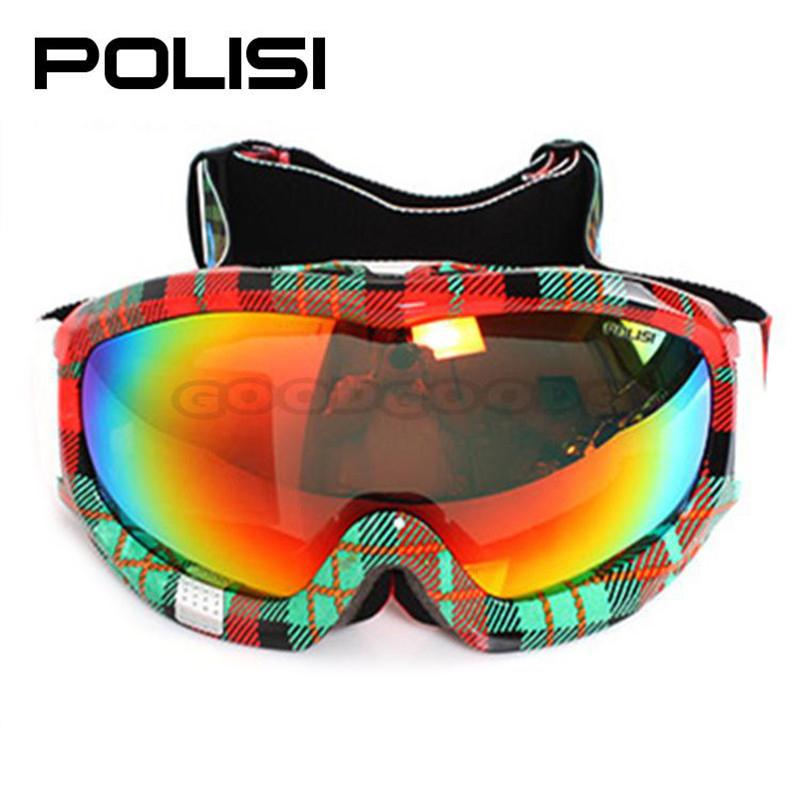 POLISI P812-RE Anti-Fog Snowmobile Motorcycle Off-Road Snowboard Sled Skate Ski Snow Polarized snowboard goggle Eyewear