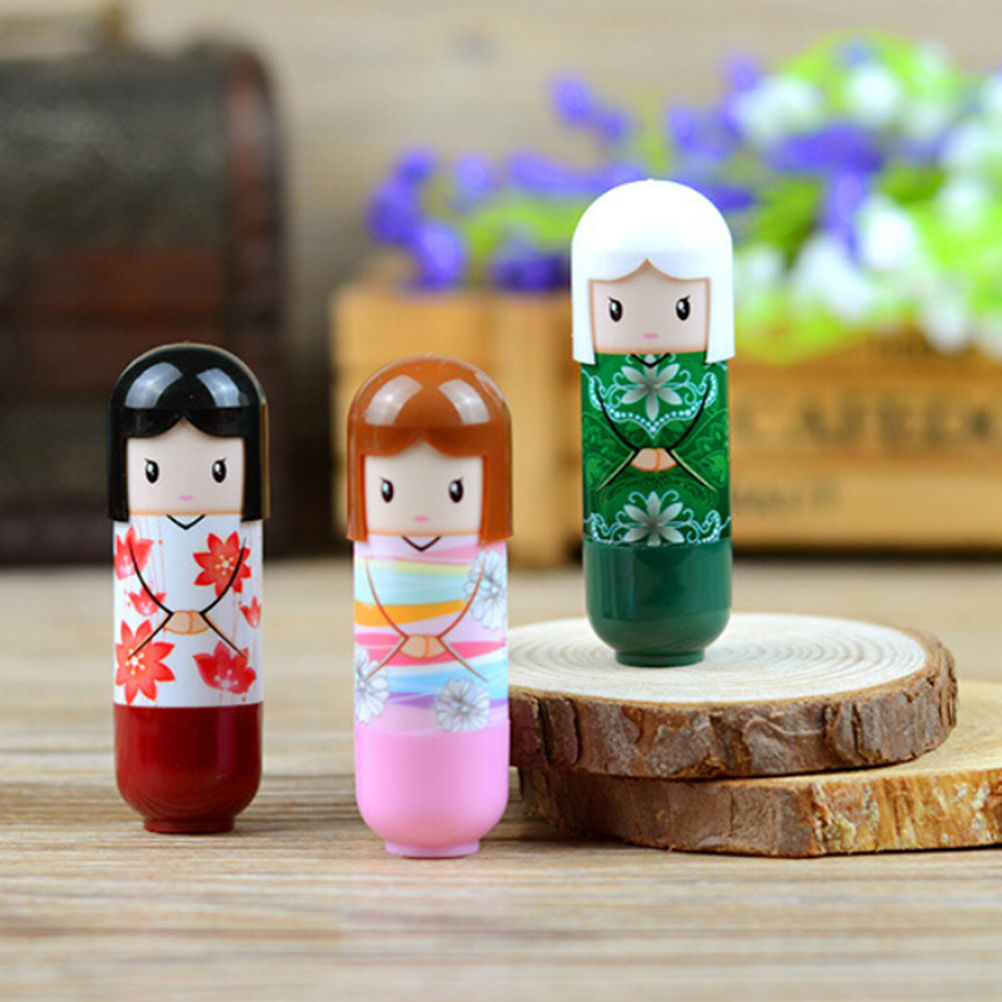 Cute Cartoon Lip Gloss Makeup Long Lasting Bright Lip Pen Lipstick Lip Rouge