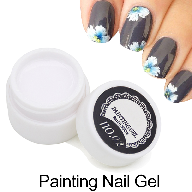 1pcs Painting UV Gel Polish 3D Nail Art Paint Color Gel Draw Painted 12 Acrylic Color UV Gel Tip DIY Semi Permanent(China (Mainland))