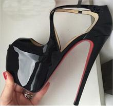 Discount Price!!Designer Brand High Heels Woman Fashion Red Bottom Straps Pumps Cross Red Sole Heels Women Top Quality Shoes(China (Mainland))