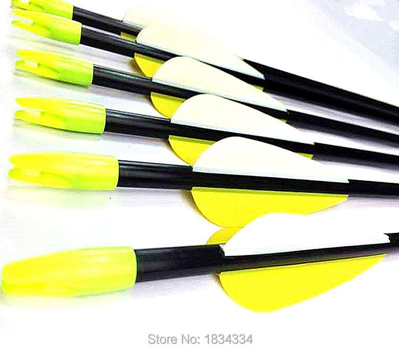 6Pcs spine 500 High quality fiber glass arrow shooting archery TPU feather arrow for bow 30