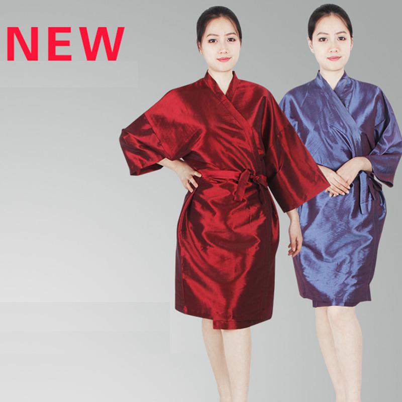 3 Colors Barber Salon Robe Cut Hair Apron Beauty Salon Cape SPA Salon Baking Oil Hair Kimono Bathrobe Sauna Sweat Steaming Cloth(China (Mainland))