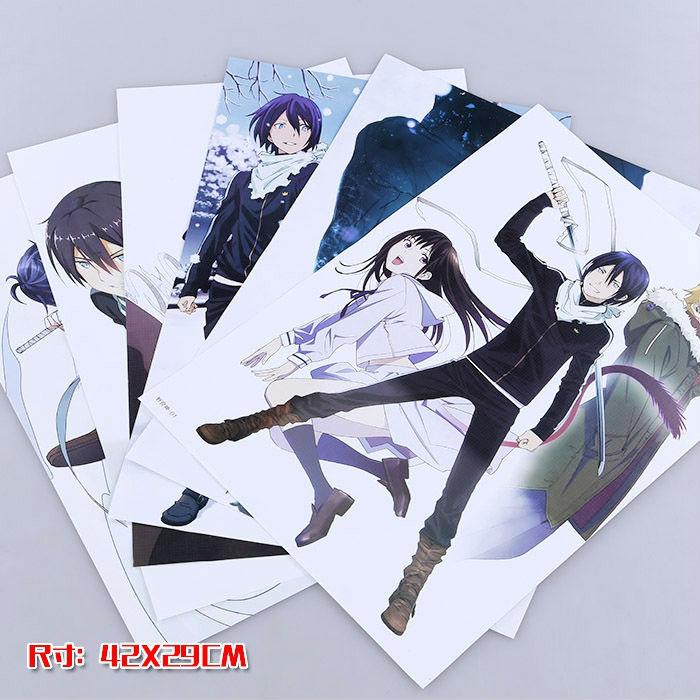 8 pcs/set Noragami poster yato / Hiyori / Yukine Anime posters for walls 42x29cm free shipping