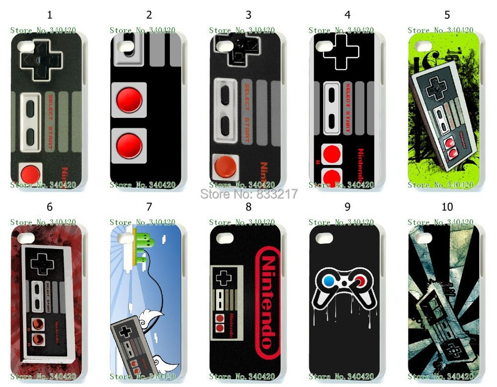 Hot 10pcs/lots wholesale NES hard white case cover for iphone 5 5th 5S+free shipping(China (Mainland))