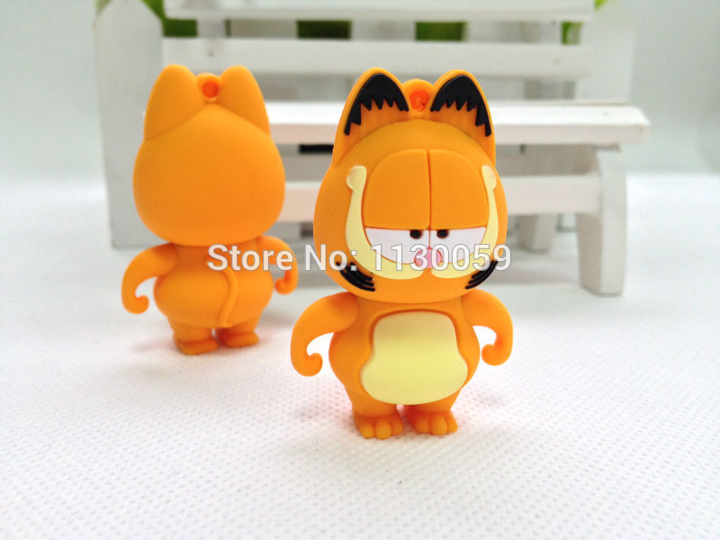 Wholesale Cartoon Garfield Cat 4GB/8GB/16GB/32GB/64GB USB Flash Drive Pendrive /Pen drive  Memory Stick USBS238 A2