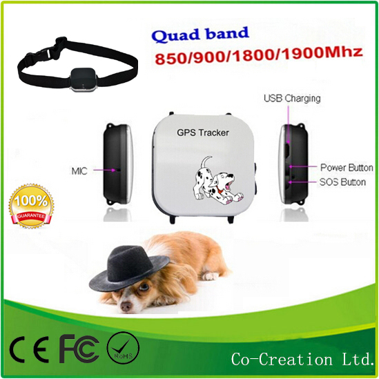 2014 Top Sale On Ebay Smallest Pet Dogs GPS tracker Device with Google Maps GPS/GSM/GPRS pets tracker Security TKP19Q(China (Mainland))