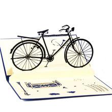 Greeting Card Handmade 3D Pop Up Cards Bicycle Happy Birthday Thank You Christmas Halloween(China (Mainland))