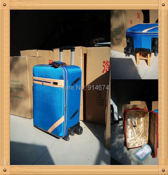 Free shipping!High-grade pu leather suitcase / mute aircraft wheels rotate 360 degrees,aluminum rod, waterproof! Trolley luggage(China (Mainland))