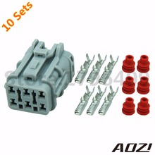 10sets 6 Pins Automobile Tail Light Plug Waterproof Connector 7123-7464-40(China (Mainland))