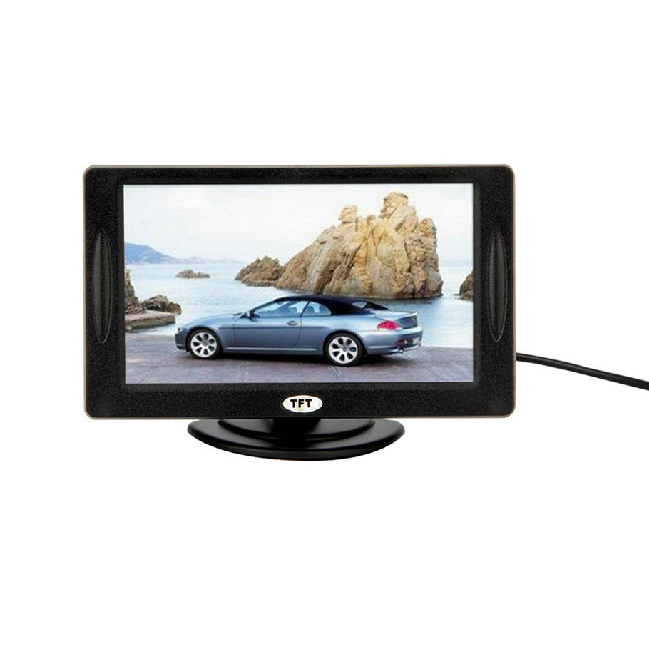"""New 4.3"""" Color TFT LCD Rearview Car Monitors for DVD GPS Reverse Backup Camera Vehicle driving accessories hot selling(China (Mainland))"""