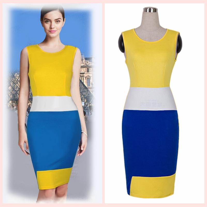 Perfect 2014 Dress Women Business Work Sheath Bodycon Vintage Pencil Dress