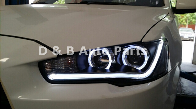 [ Free Shipping ] High Quality & Brand-New Mitsubishi Lancer Ex 2010-2013' Led Headlight Led Front Light With Angle Eye For Sale(China (Mainland))