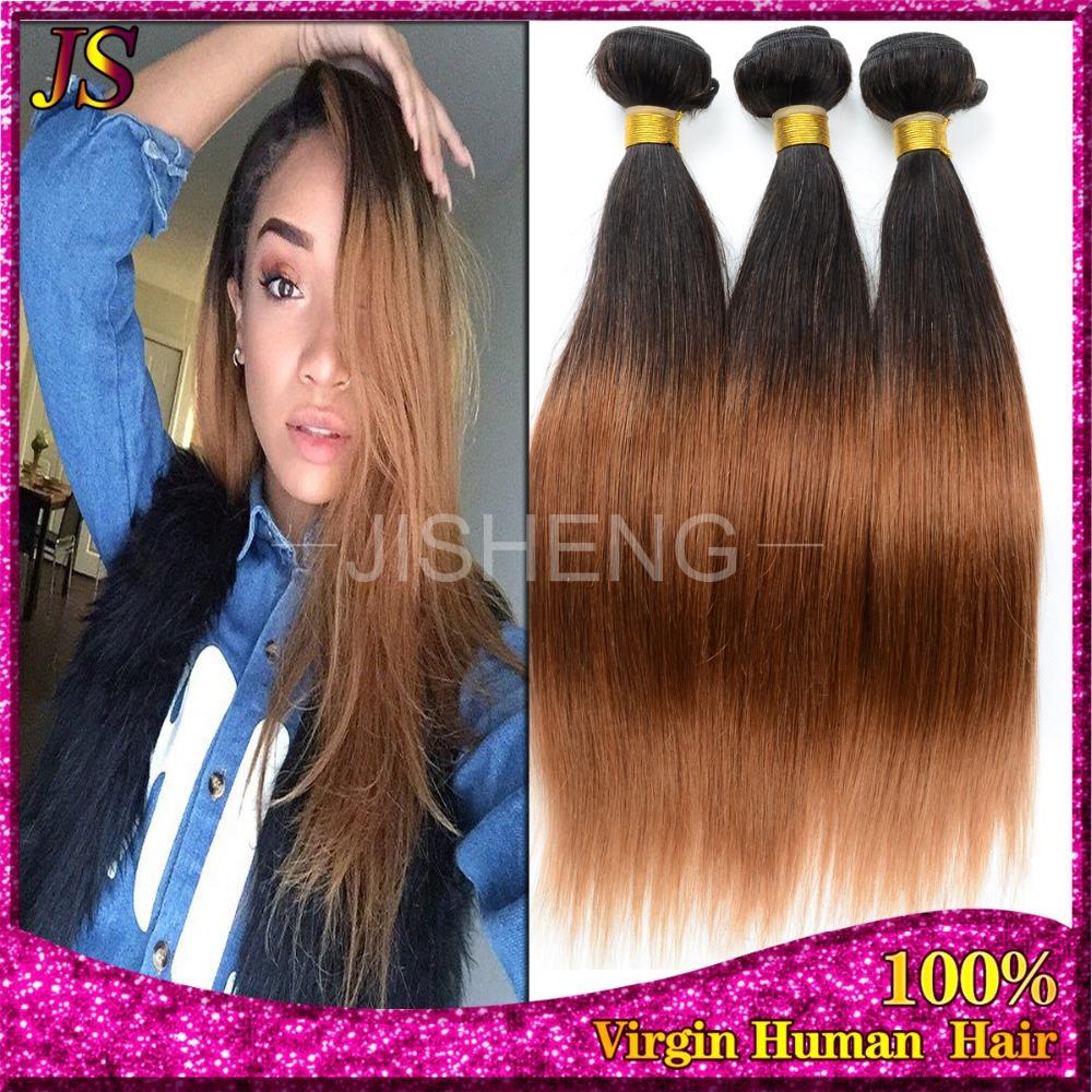 Rosa Hair Peruvian Ombre Straight Virgin Hair 3pcs Lot 1b/30 Two Tone Human Hair Bundles 8-30inch Mixed Length Good Quality(China (Mainland))