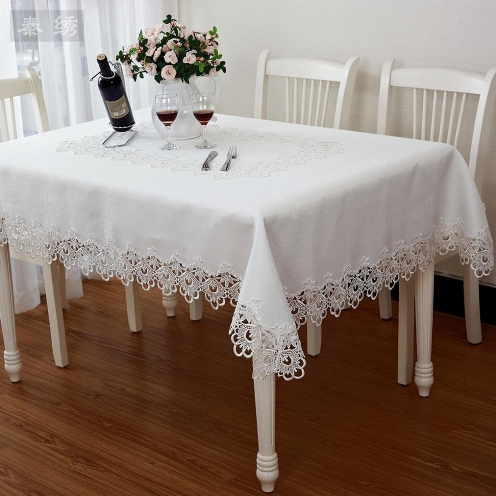 [Lifestyle+] romatic European embroidered tablecloth wedding white embroidery lace tablecloth hollow lace table cloth(China (Mainland))