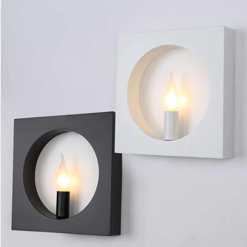 modern wall mounted light for living room foyer bed room dining lamps bathroom light fixtures square indoor lighting wall lamp(China (Mainland))