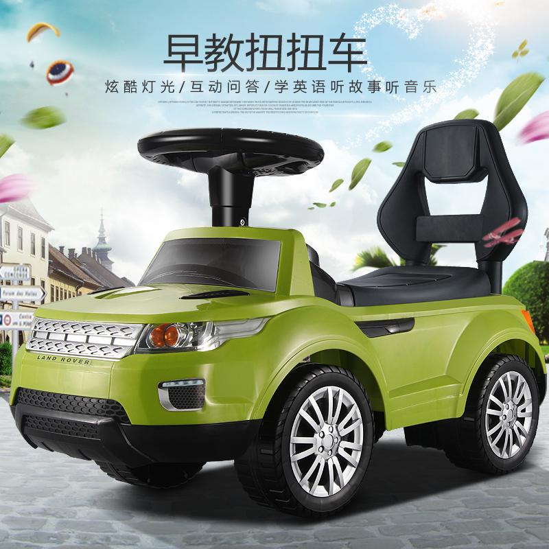 Children twisting, bring the light music/sliding walk vehicle four-wheel toddler toy car