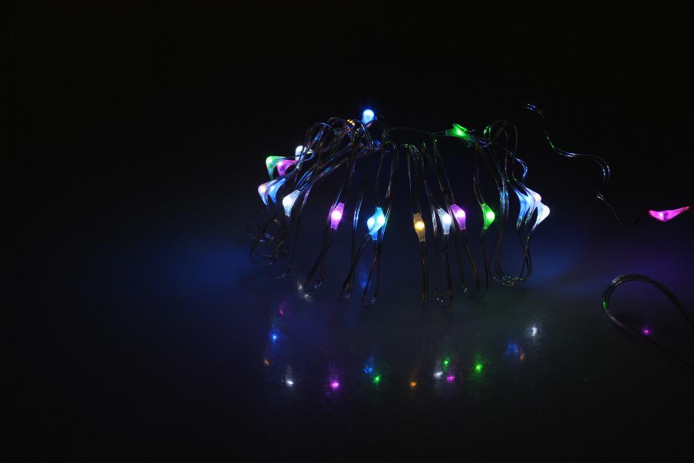 Miyole LED Christmas Battery Light 3*AA 3M 30LED Waterproof 2-Modes Flashing and Long Bright LED String Light holiday decoration(China (Mainland))