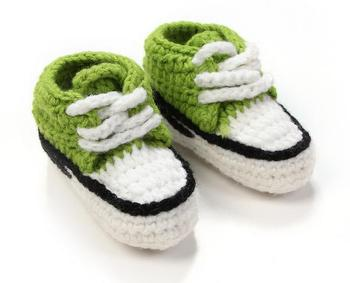Manual knitting baby toddler soft bottom shoes Tall canister boots Male and female baby baby shoes and socks shoes 11cm