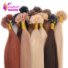 "18""20""22""24"" 50G Natural keratin Capsule prebonded U/Nail Tip Hair Extension flat tip hair extensions 13color available,100s/bag(China (Mainland))"
