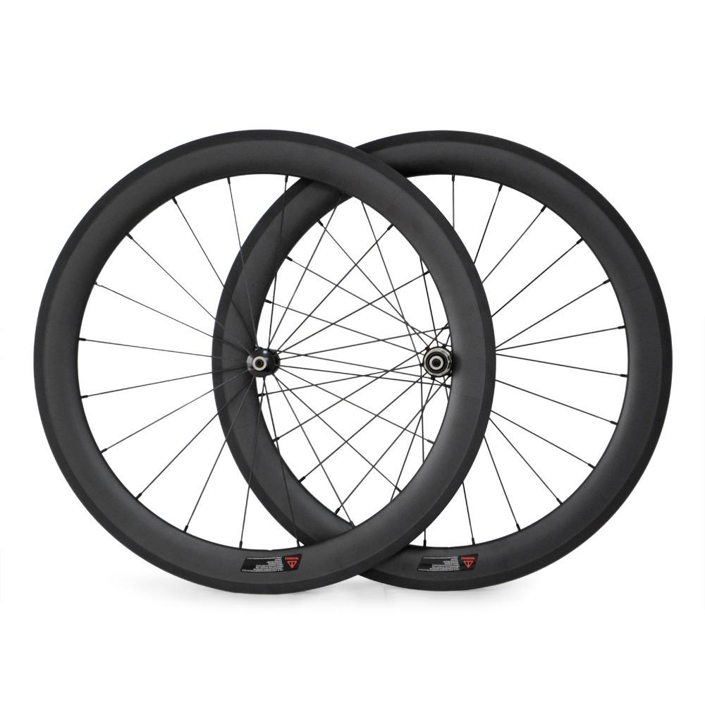 Здесь можно купить  Road Bike Straight Pull 60mm Clincher Carbon Wheels Bicycle Carbon Fiber Wheelset  Спорт и развлечения