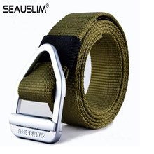 Buy SEAUSLIM High Canvas Casual Men Army Tactical Belt Military Nylon Belts Mens Strap Metal Buckle Belt Q-CXS-136 for $8.07 in AliExpress store